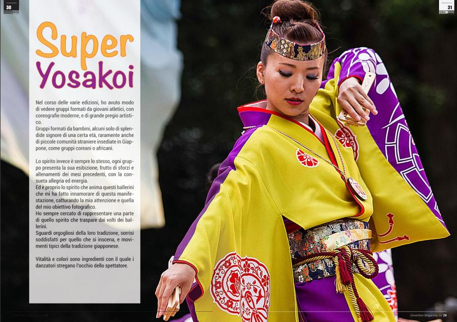 Reportage Super Yosakoi su Giroinfoto Magazine